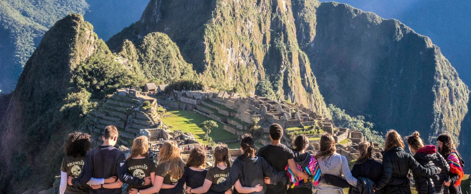 Projects Abroad volunteers visit Machu Picchu on their adventure holiday to Peru.